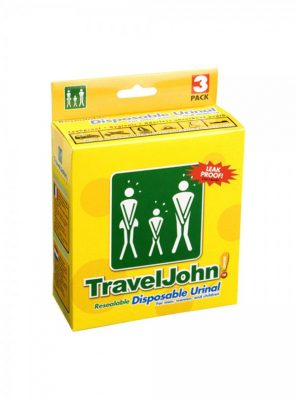 TravelJohn Resealable Disposable Urinal (3 Pack)