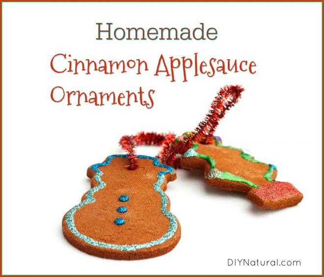 Homemade Cinnamon Applesauce Tree Ornaments