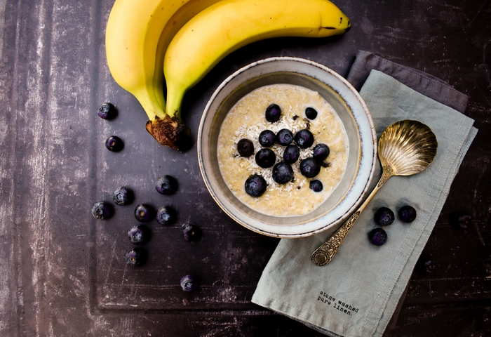Creamy Blueberry, Banana and Coconut Porridge for the Perfect Breakfast