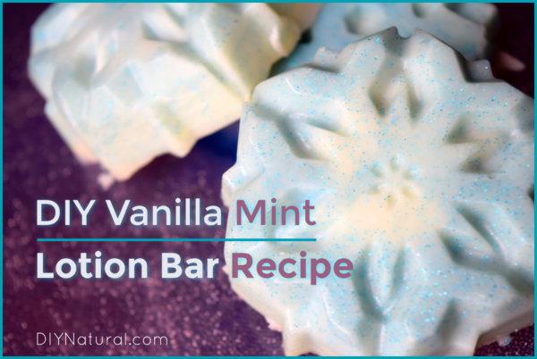 DIY Vanilla Mint Snowflake Lotion Bar Recipe