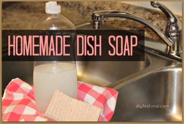 A Natural and Homemade Liquid Dish Soap Recipe