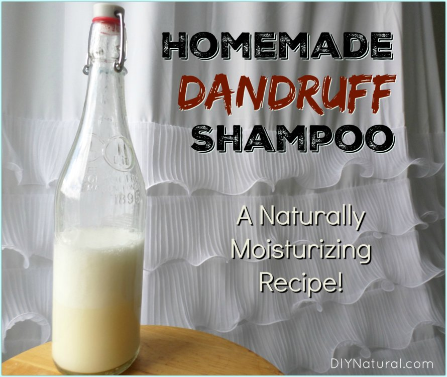 Make a DIY Natural Moisturizing Dandruff Shampoo