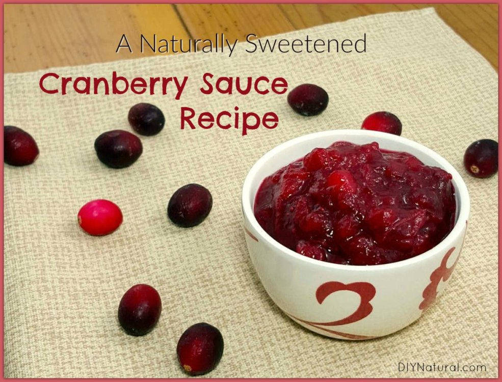 Wholesome & Naturally Sweetened Cranberry Sauce