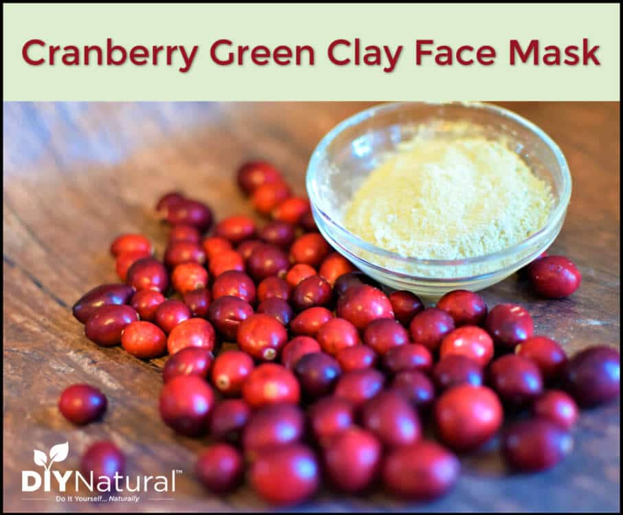 DIY Cranberry and Green Clay Face Mask Recipe