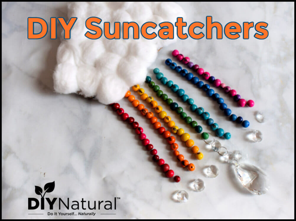 DIY Rainbow Suncatchers Made with Natural Beads